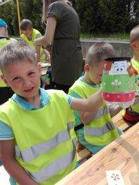 Dzieci uczą się o PSZOK-u. Żywa lekcja ekologii