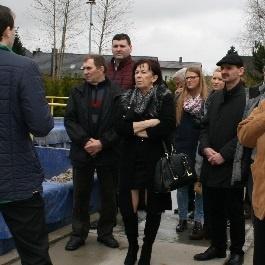 Samorządowcy z gminy Sławno z wizytą w Sierakowicach