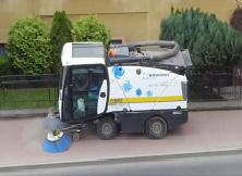 Zamiatanie ulic w gminie Sierakowice
