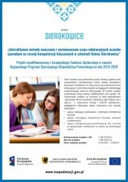 Interaktywne metody nauczania i wyrównywanie szans edukacyjnych uczniów sposobem na rozwój kompetencji kluczowych w szkołach Gminy Sierakowice